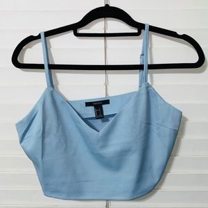 Forever21 baby blue crop top